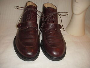 Franco ferrari brown leather ankle boots italy men size 43 ebay image is loading franco ferrari brown leather ankle boots italy men publicscrutiny Gallery