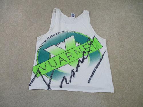 VINTAGE Vuarnet Shirt Adult Large White Green Tank