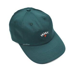 e07472f9321 NWT Noah NY Dark Emerald Green Core Logo Embroidered Cap Dad Hat ...