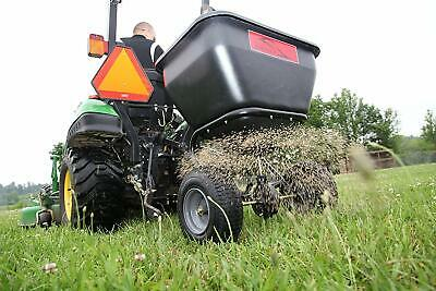 Tow Behind Fertilizer Spreader Pull Seeder Lawn Grass Seed