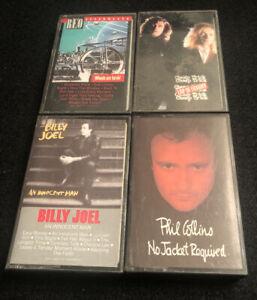 4x Cassette Lot Cheap Trick Phil Collins Billy Joel REO Speedwagon Tape '80's