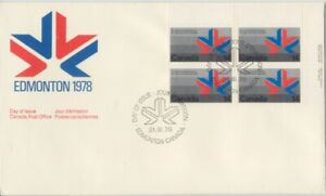 CANADA-1978-Commonwealth-Games-14c-Block4-unaddressed-FDC-JD1716
