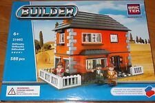 Orange House Builder BricTek Building Block Construction Toy Brick 21602