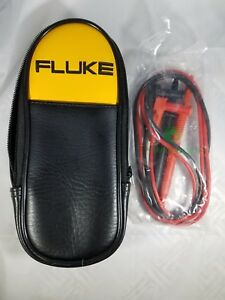 FLUKE-SOFT-CARRYING-CASE-POUCH-NEW-8-034-3-034-1-034-FREE-SET-OF-TEST-LEADS