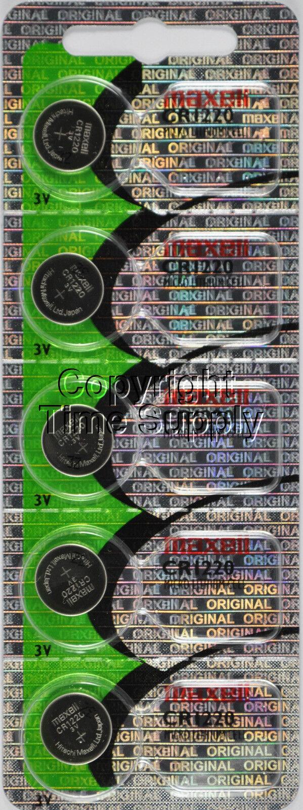 Maxell original 1220 CR 1220 Lithium 3V Battery ( 5 PC )