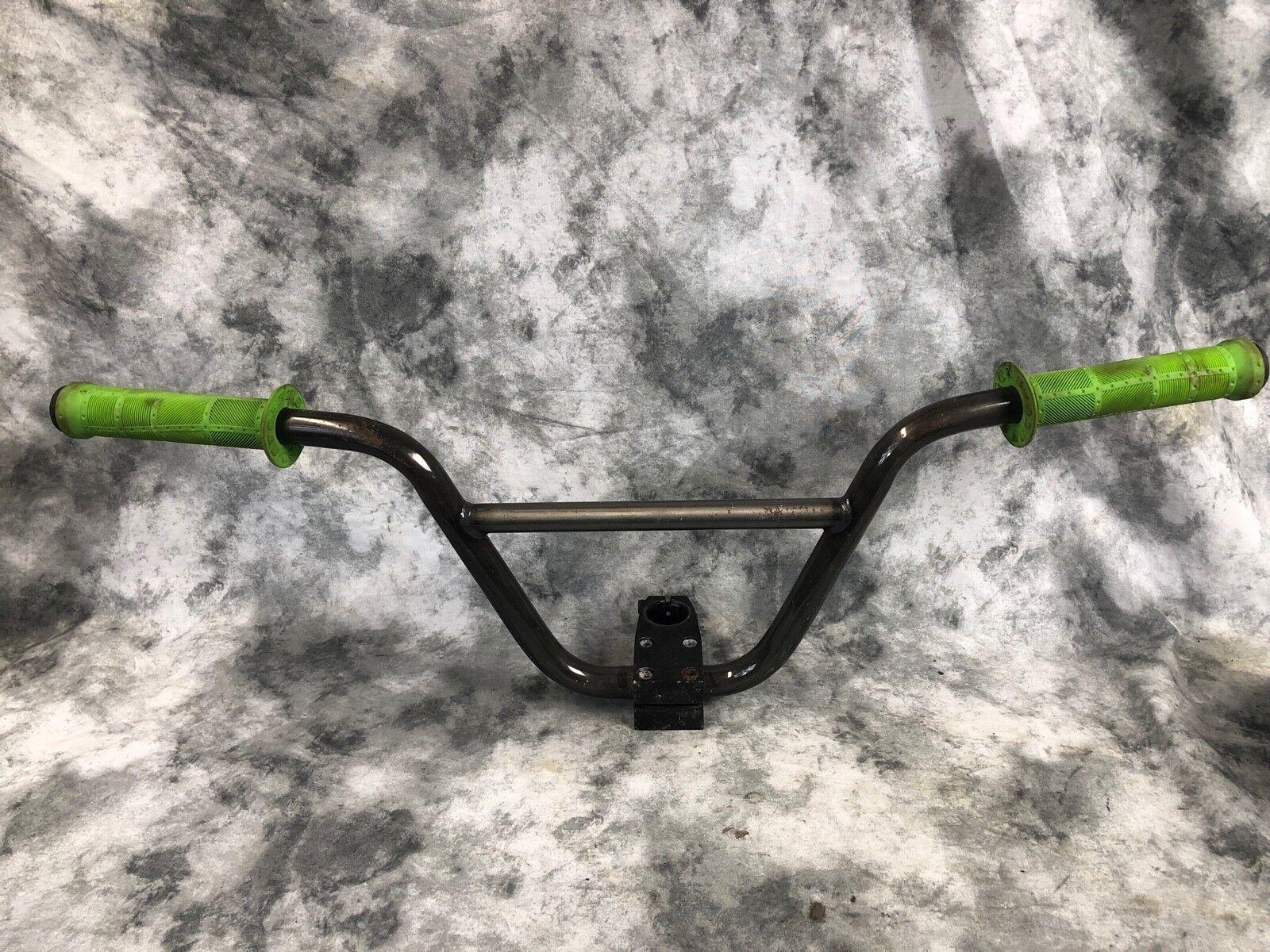 Stolen BMX Freestyle Bike Bars Stem and Grips