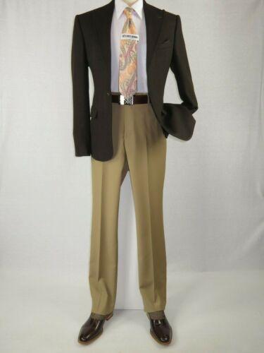 Mens Wessi by J.Valintin Turkey Flannel Jacket Peak Lapel One Button 53-08 Brown