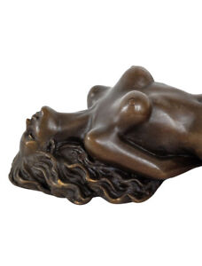 Bronzeskulptur-Erotik-erotische-Kunst-Akt-Bronze-Figur-Statue-Antik-Stil-22cm