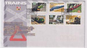 (f) Australie 1354-59 Fdc Chemin De Fer Train Railway Vapeur Australia 1993