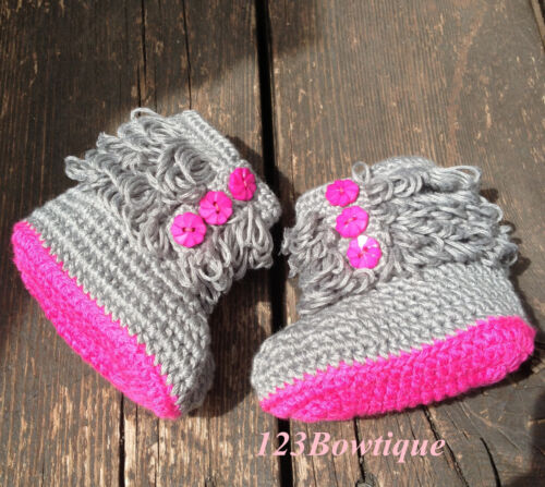 Crochet Baby Shoes Crochet Baby Booties 8cm  for newborn to 3 months old