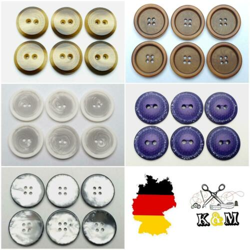 6 bottoni bottone in plastica 25mm 2,5cm vari colori alta qualità ☆☆☆☆☆