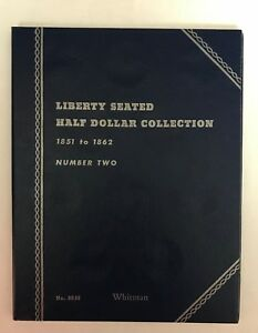 LIBERTY-SEATED-HALF-2-1851-1862-9036-COIN-FOLDER-BY-WHITMAN-NEW-OLD-STOCK