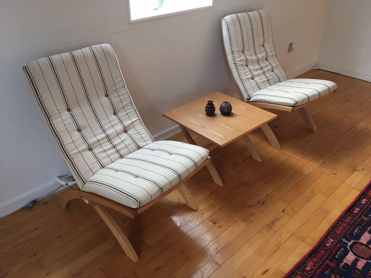 Andet, stof, Designer stole fra Silkeborg møbelfabrik., De