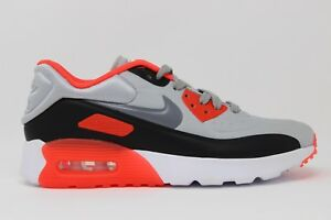 Details about Nike Air Max 90 Ultra 2.0 SE (GS) 844599 004 Wolf Grey Crimson New In Box