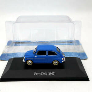 IXO-Altaya-1-43-Fiat-600D-1962-Blue-Diecast-Models-Limited-Edition-Collection