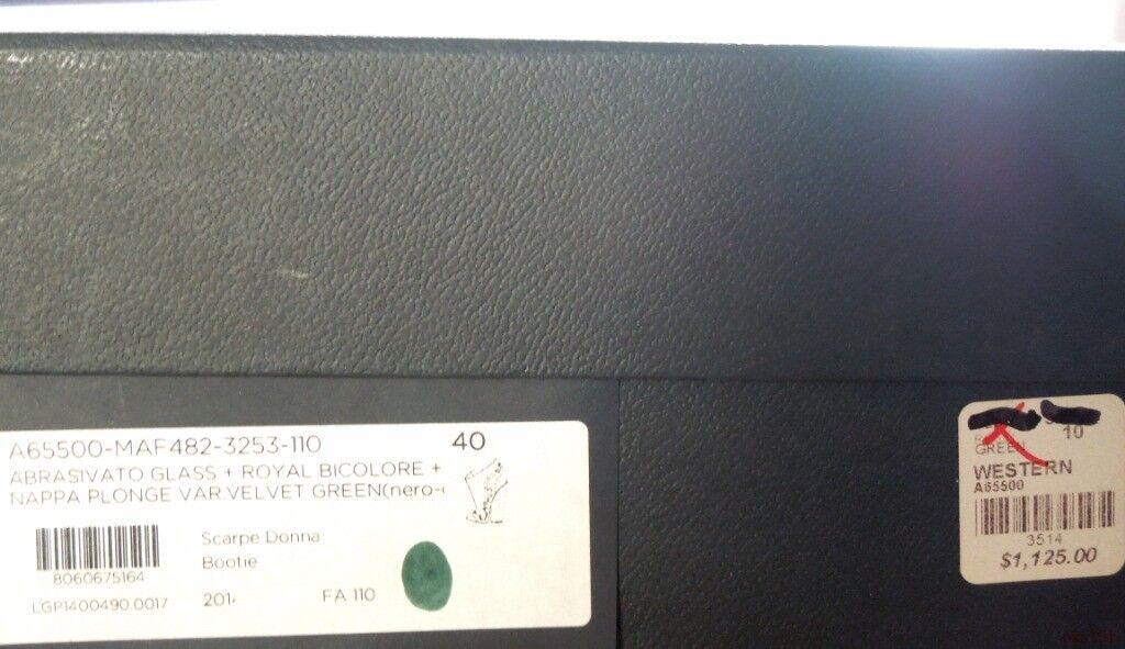 Nouveau  1125 Sergio Rossi noir gris gris gris vert Western Talon Compensé Bottines 40 10 magnifique 354e6c
