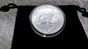 1-Ounce-Fine-Silver-999-Werewolf-Collectible-Round-with-Capsule-amp-Velvet-Pouch