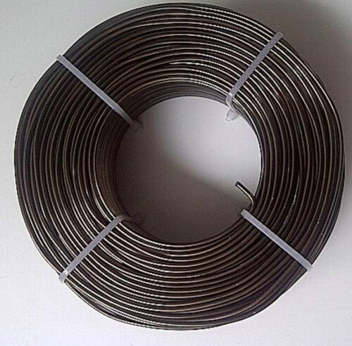 Aludraht 2mm rund 60m Biegedraht Basteldraht Schmuckdraht Draht 2,0 mm 0,28€//m