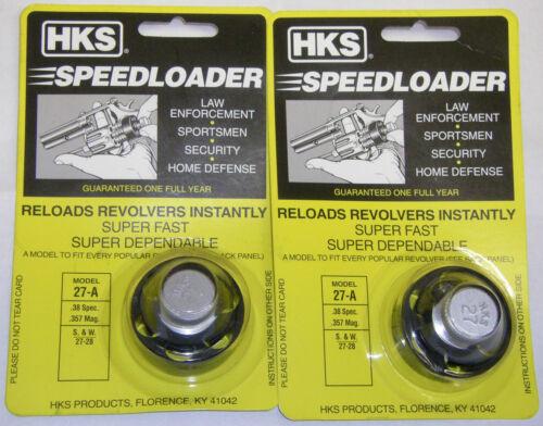 2 Pack HKS 27-A Speed Loader S/&W 27-28 38 SPL 357 Mag