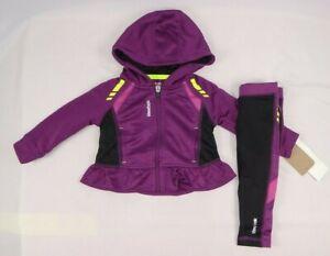 18 months Girl Colorblock Tracksuit Set sizes 12 Reebok Baby Girls