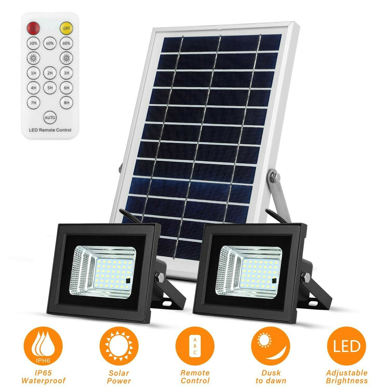 Solar Flood Lights Led Lights Remote Solar Lights Dusk to Dawn Security Light...