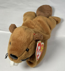 TY Beanie Baby - BUCKY the Beaver (8.5 inch) - With Tag Stuffed Animal Toy