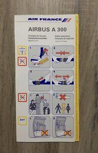 Safety-Card-AIR-FRANCE-AIRBUS-A300