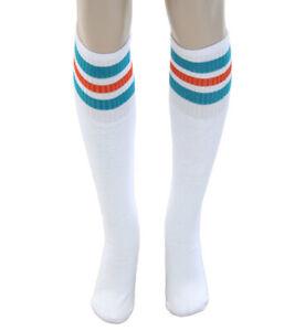 Adult-One-Size-Movie-White-Stripe-Semi-Pro-Jackie-Moon-High-Tube-Costume-Socks