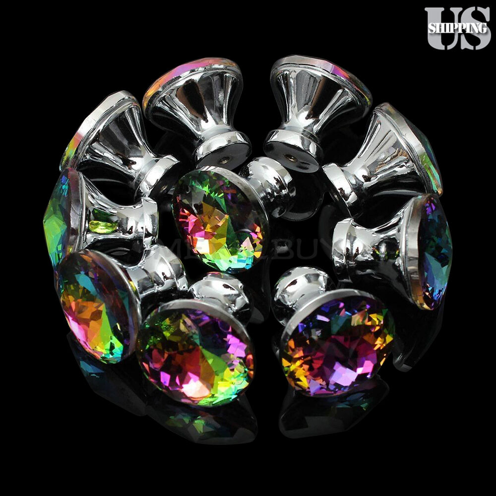 Kitchen and Bathroom Cabinets Shutters,Wardrobe AWJ 6PCS 40mm Clear Bubbles Ball Crystal Glass Cabinet Knob Cupboard Drawer Pull Handle//Great for Cupboard
