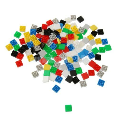 140pcs Square Tactile Button Caps Kit For 12x12x7.3mm Tact Switches PCB DIY