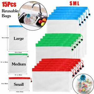 15X-Reusable-Produce-Bags-Mesh-Vegetable-Fruit-Toys-Storage-Eco-Friendly-Pouch
