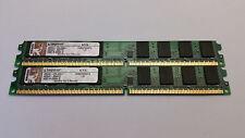 Kingston 2GB Kit - 2x 1GB DDR2 pc2-5300 667mhz NON ECC RAM VLP Desktop PC Memory