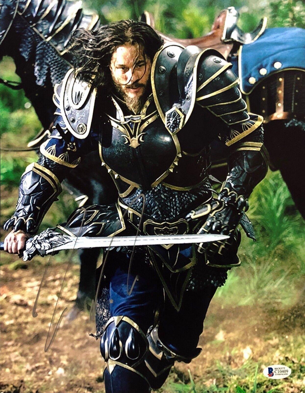 Travis Fimmel Signed Warcraft 11x14 Photo BAS C10409