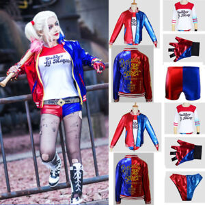 1b4fff3fc130 Image is loading Women-Ladies-Suicide-Squad-Harley-Quinn-Cosplay-Costume-