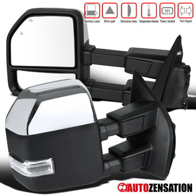 POWER HEAT TOW MIRROR SIDE LED SIGNAL+BLIND SPOT CONVEX BEZEL FOR 04-14 F150
