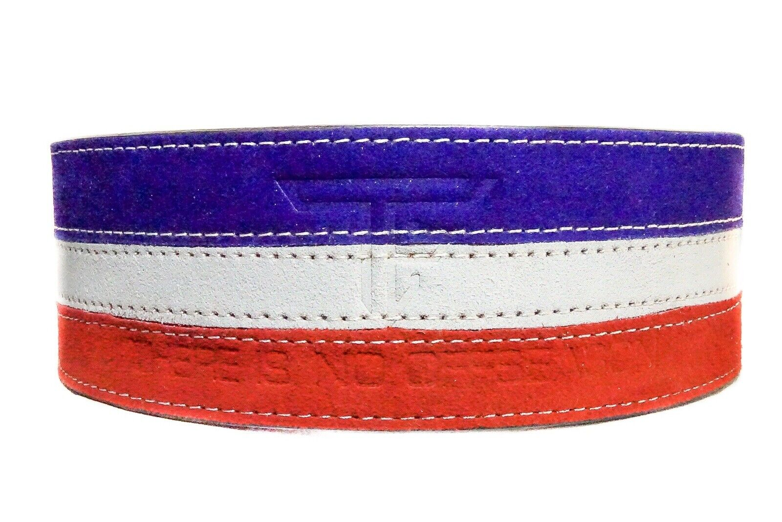 TF 10mm Lever Belt, rot Weiß Blau  (Rise gym Gear, Alphalete, Gymshark)