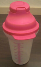Tupperware D 214 Shake it Mixbecher Meßbecher Shaker 350 ml Klar / Rosa Pink Neu