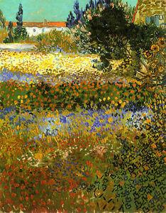 Image Is Loading Vincent Van Gogh Garden In Bloom Arles Vintage