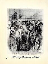 Käthe Kollwitz Werke: Kinderkrankenhaus / verunglücktes Kind Histor. Grafik 1930