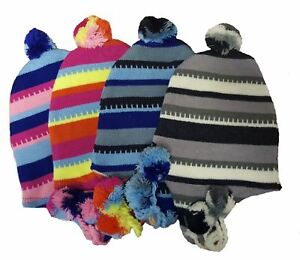 Unisex-Striped-Coloured-Peruvian-Winter-Hats-with-Tassles-Peru-Headwear