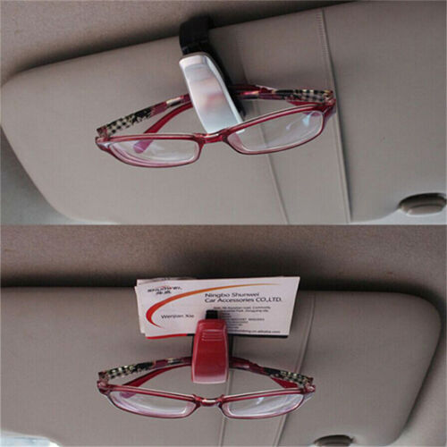 Black Car Vehicle Sun Visor Sunglasses Eye Glasses Card Pen Holder Clip Car、Pop