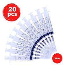 10ml Disposable Plastic Syringe With Needle Single Use 20 Pcs Veterinary Medical