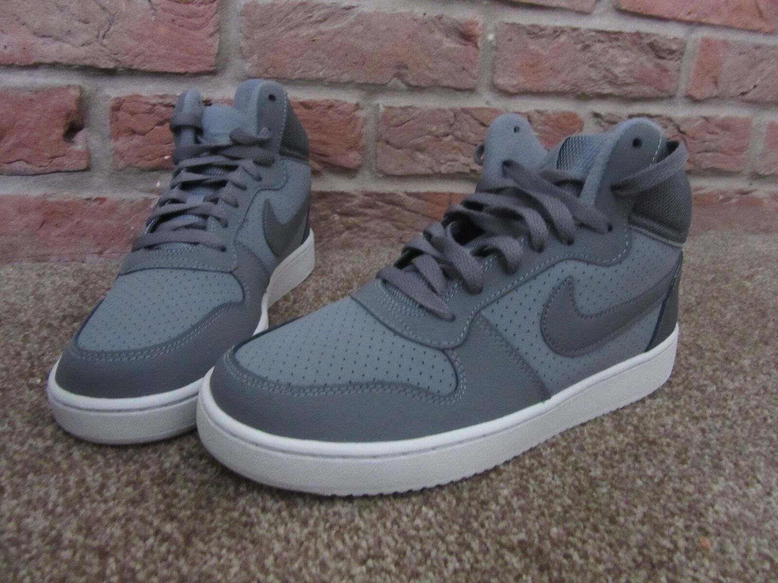NEW UK 5.5 Damenschuhe Nike Trainers Cour Grau Mid Mid Grau Top Lace UP Perforated Pattern ecdd55