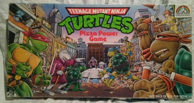 1989 Roseart Teenage Mutant Ninja Turtles Pizza Power Board Game 100 Complete For Sale Online Ebay