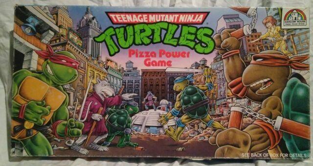1989 Roseart Teenage Mutant Ninja Turtles Pizza Power Board Game 100 Complete For Sale Online Ebay