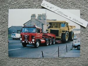 150mmX100mm CLASSIC FODEN S TYPE TRUCK C.K.L. HEAVY HAULAGE TRANSPORT PHOTO