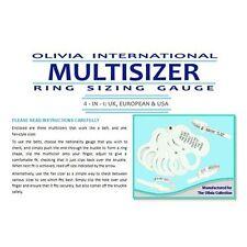 OLIVIA International Multi Sizer 4-In-1  Pack Ring Sizer Gauge UK - Europe - USA