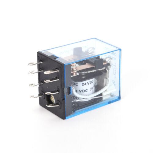 Relé de bobina de alimentación de 24 V DC 5 A MY2NJ HH52P-L 8 Pines 2P2T Interruptor DPDT con toma base 、 Pop