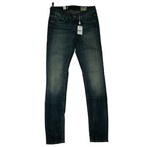 G-STAR 3301 Contour Skinny Damen stretch Jeans Hose slim W30 L32 used Blau NEU