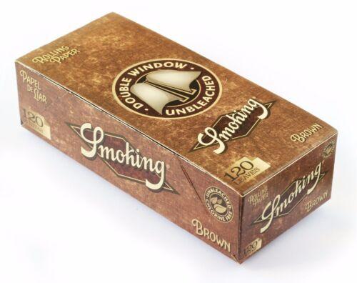 Cartine Smoking BROWN DOUBLE corte doppie NATURALI senza Cloro 25 pz 1 BOX